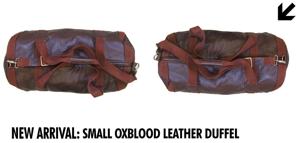 Dark Horse Small Oxblood Duffel