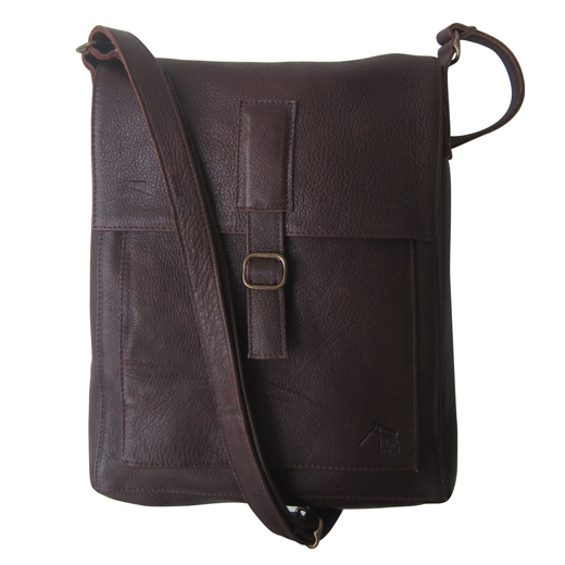 Dark Horse Leather Messenger Bag