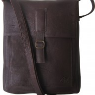 Dark Horse leather messenger