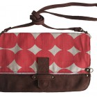 Dark Horse Folded Clutch in Egg Red