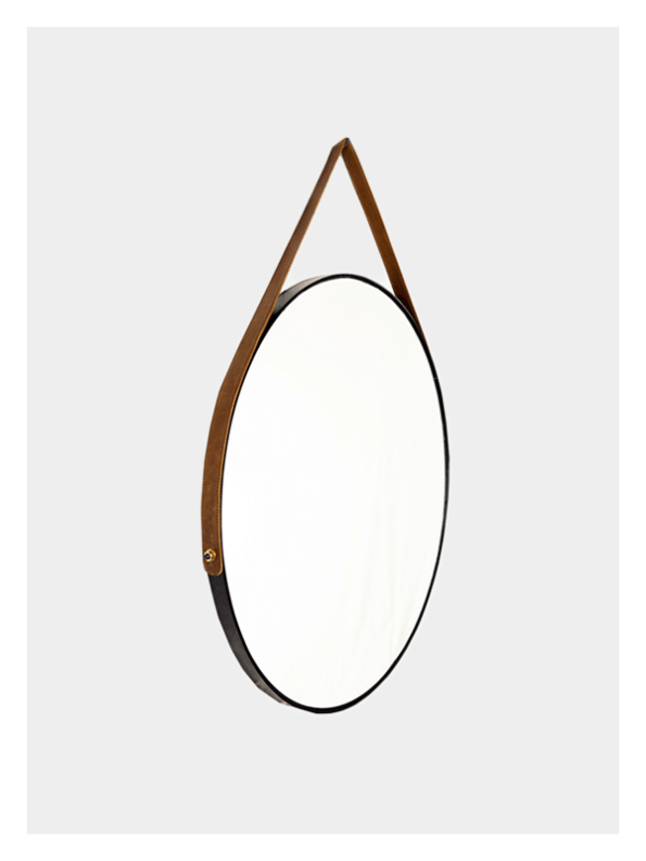 Round Mirror – Leather Strap