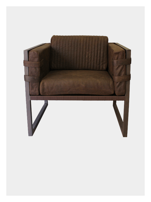 Dark Horse Boss Armchair - Brown and Brown