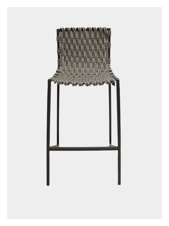 Woven Rope Chair – Grey / Grey – Tall