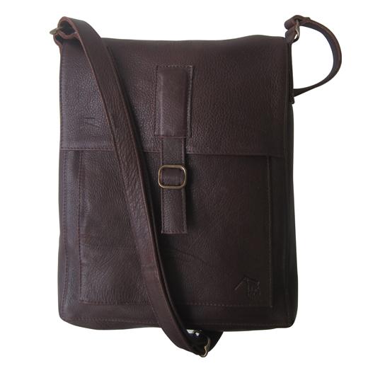 Dark Horse Leather Messenger Bag