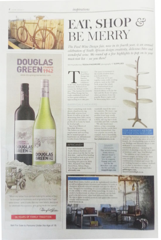Feature: Sunday Times Newspaper Lifestyle Section » Dark Horse