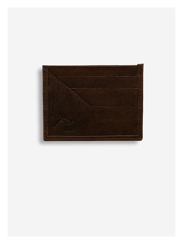Leather Card Holder Chocolate