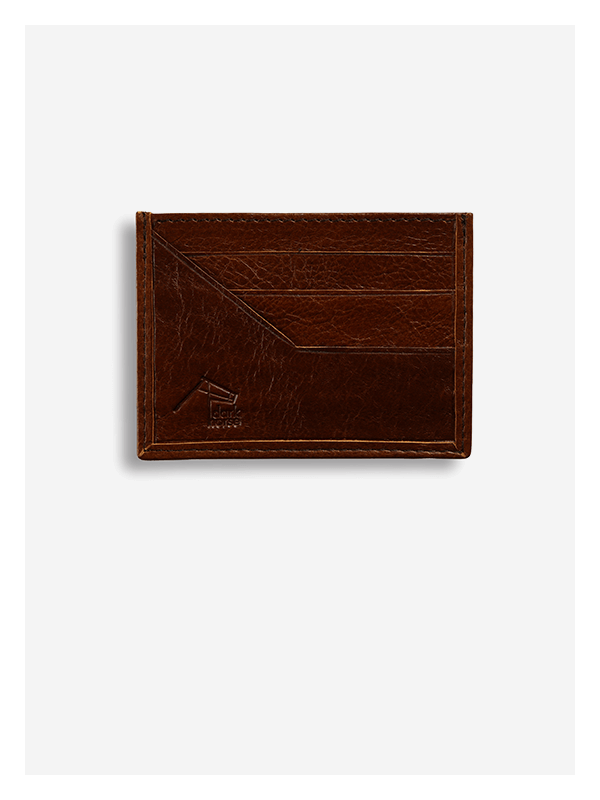 Leather Card Holder Monsoon Straw