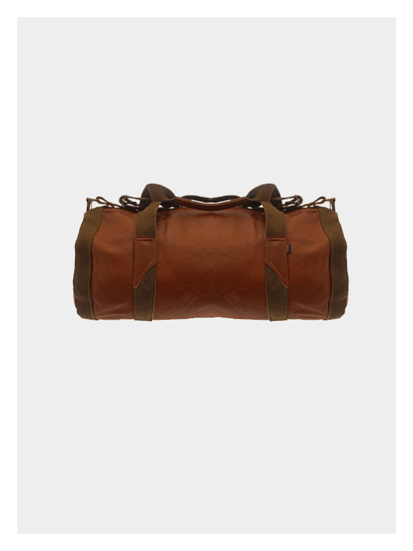 Leather Duffel Tan / Olive