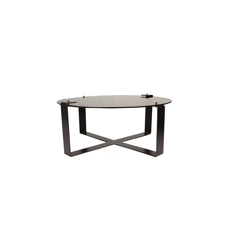 Clip Round Glass Coffee Table