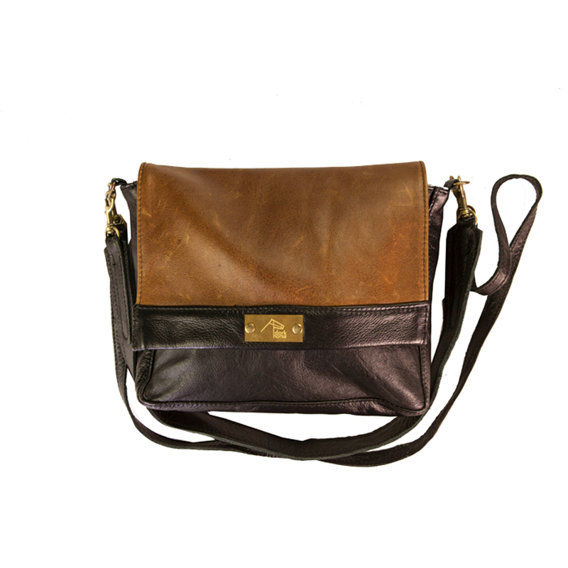 Martini Leather Handbag Black/Monsoon