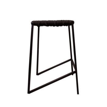 Bar stool in black