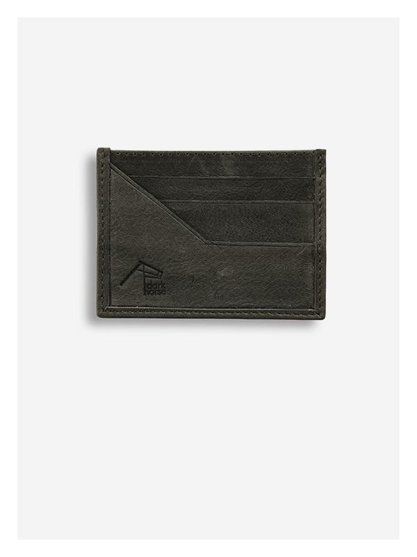 Leather Card Holder Grey