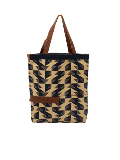 Utility Tote Navy and Gold