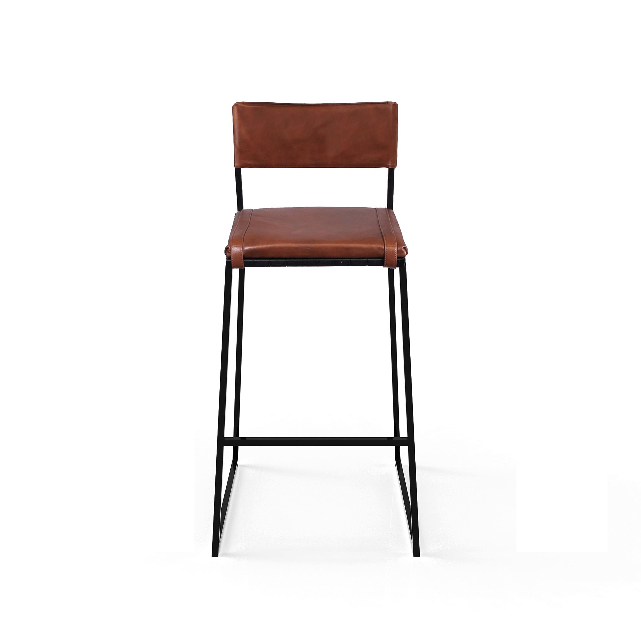Arc Bar Chair   Tan & Black