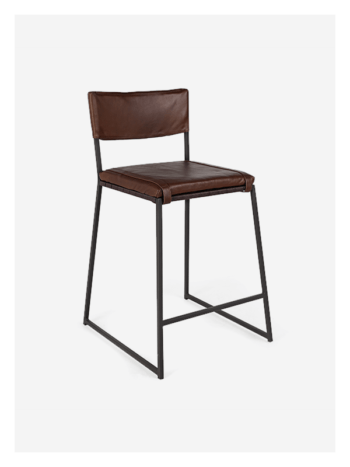 Stretch Back - Leather Kitchen chair by Dark Horse