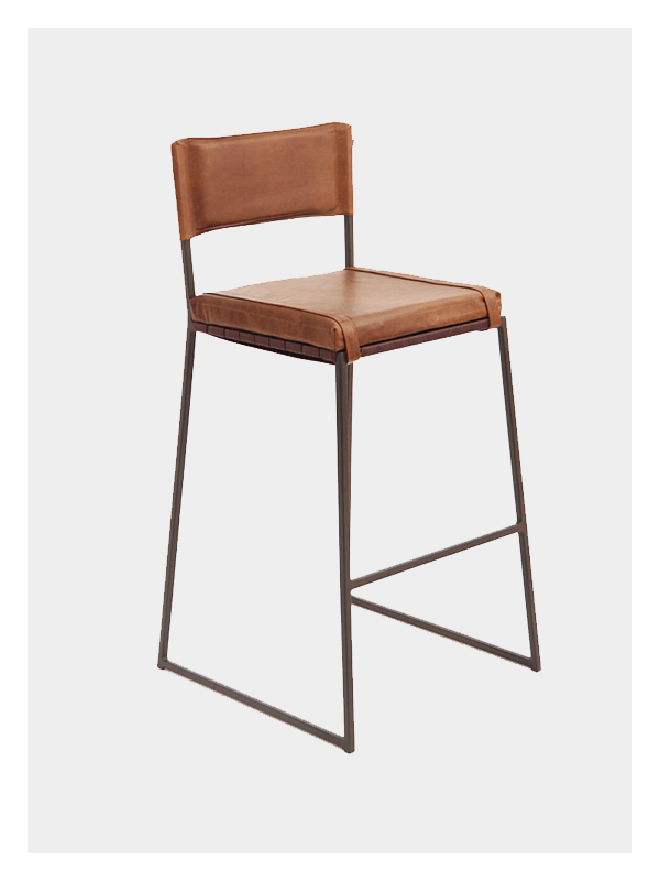 Leather Bar Chair In Ms Tan By Dark Horse