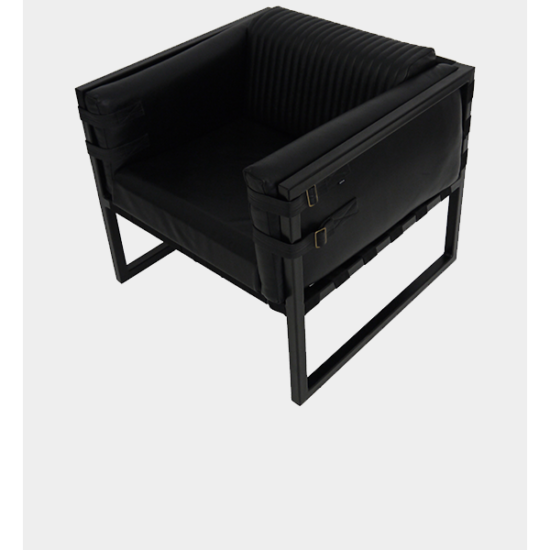 Boss Armchair - Black and Black
