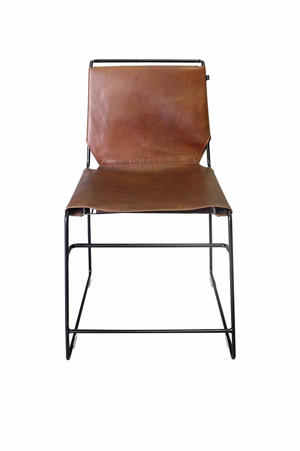 Dining chair Metropolitan in Tan and Black Dark