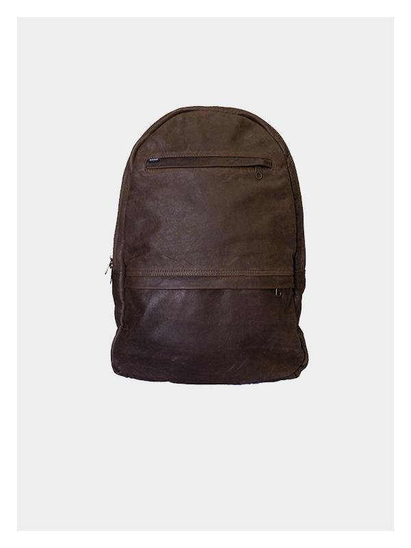 Leather Backpack Choc Brown