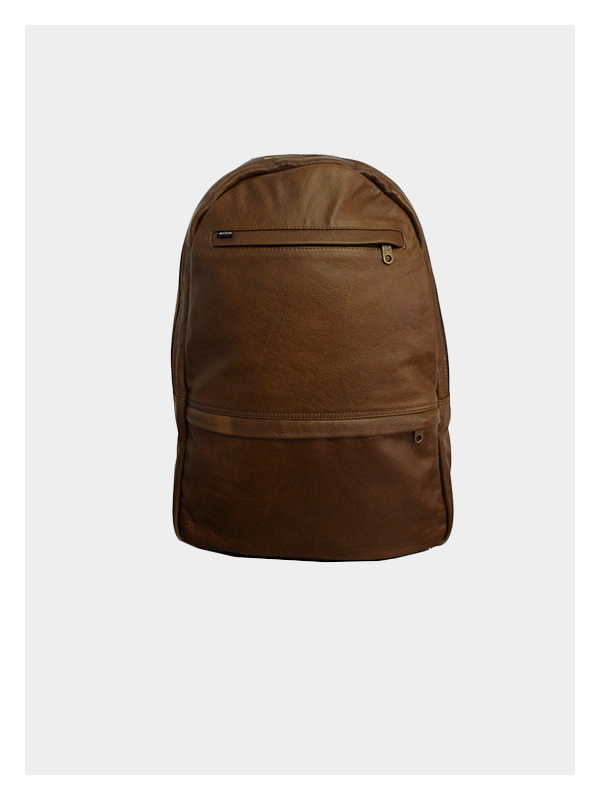 Leather Backpack MS Tan