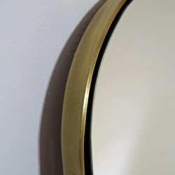 Villa Brass Mirror by Dark Horse. Stylish oval wall mirror for any space.