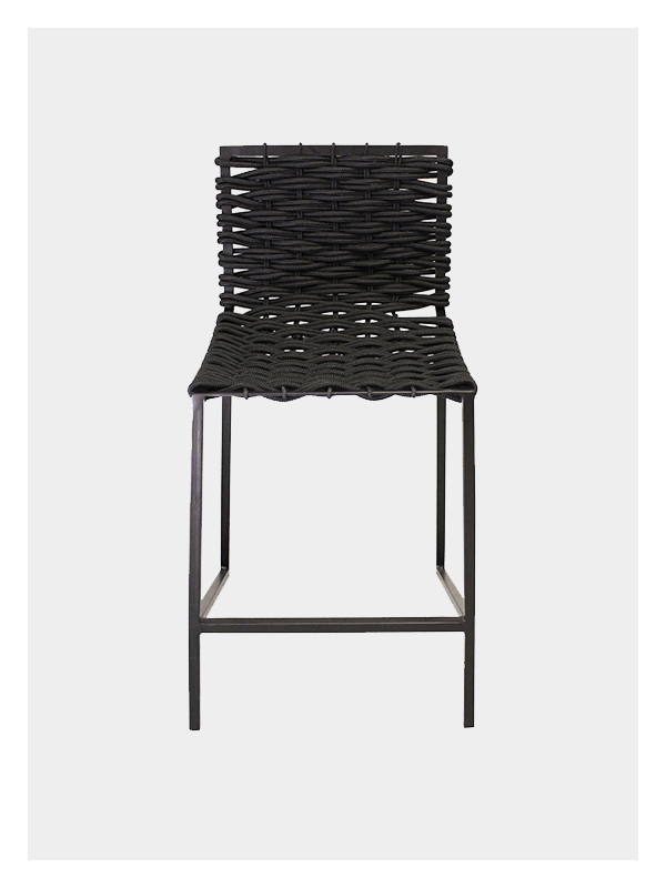 Woven Rope Chair – Black / Black Medium