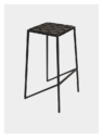 Woven leather strap stool by Dark Horse