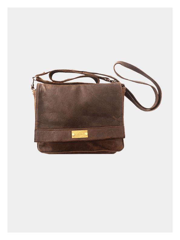 Martini Leather Handbag Full Choc