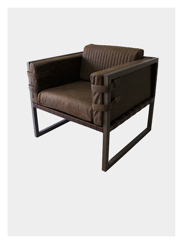 Boss Armchair – Brown / Brown