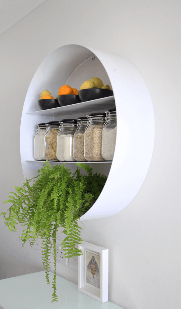 Dark Horse Round Wall Mounted Shelf