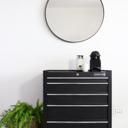 Dark Horse Wall Round Mounted Mirror.