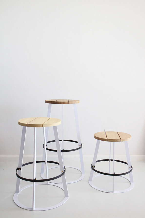 Timber kitchen stool by Dark Horse.