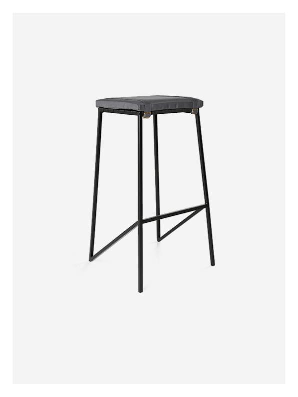 Buckle Stool – Grey / Black – Tall