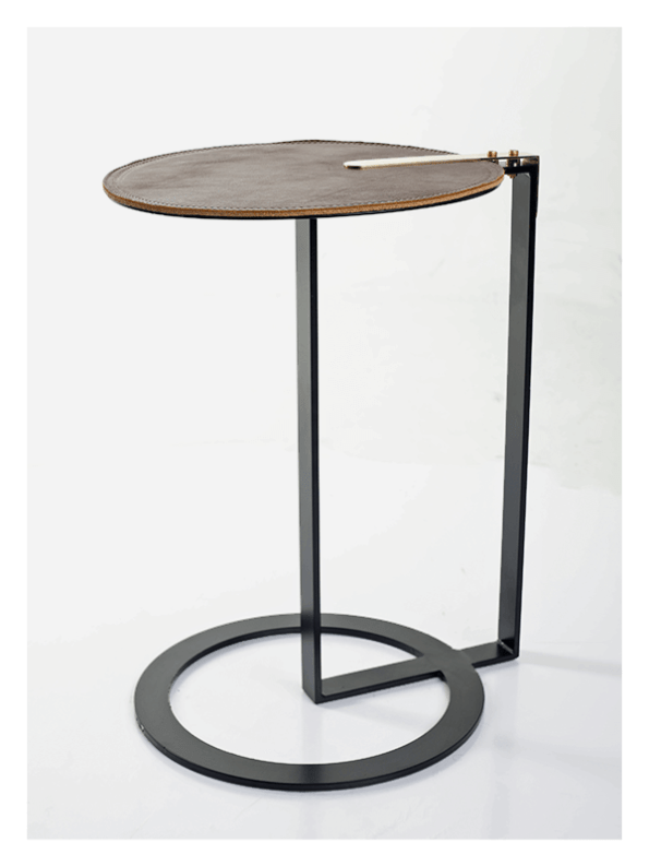 Solar Side Table – Tan / Black