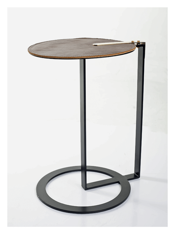 Solar Side Table Round And Sleek
