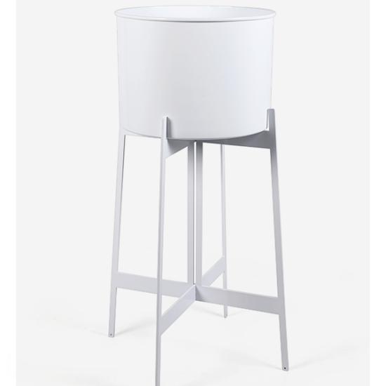 Zenith Planter - Large - White - White