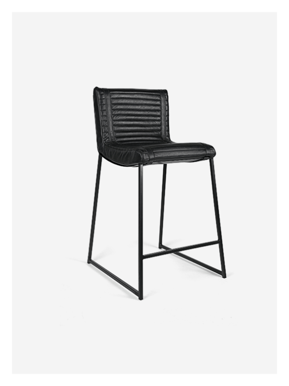 Ribbed Chair – Black and Black – Med