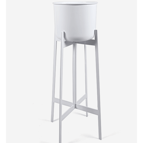 Tall Planter in White
