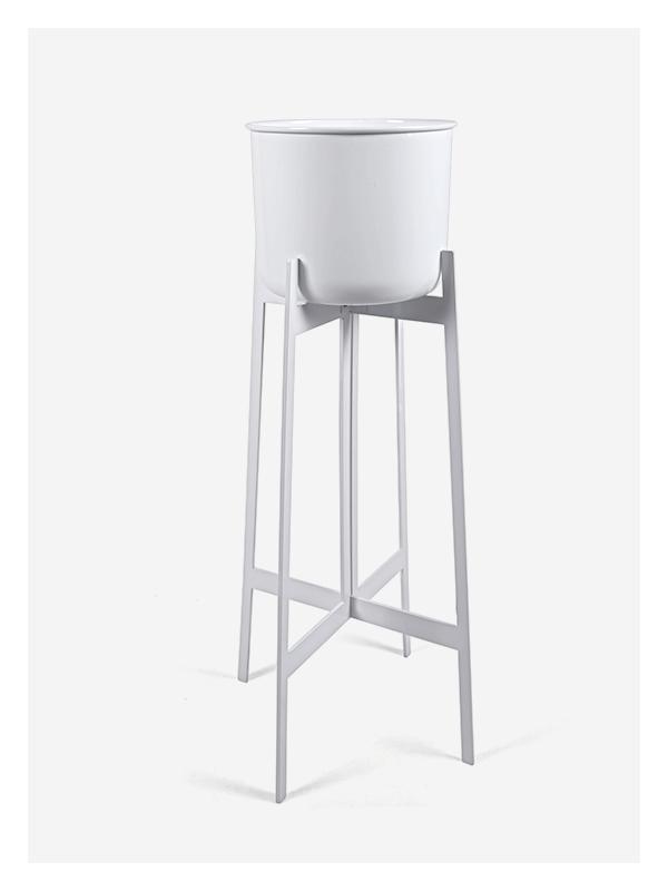 Zenith Planter – Tall – White – White
