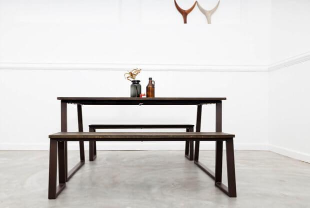 Ingo Table and Bench – Brown / X Black – Indoor
