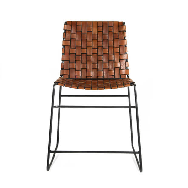 Savile Chair – Tan and Black