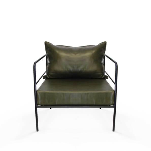 Modern stylish leather armchair